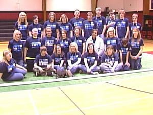 "Western Dubuque High School students organized a ""Spread the Word to End the Word"" rally Wednesday"