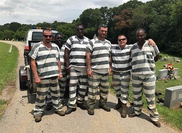 The inmates from Polk County, Georgia who helped save the life of a sheriff's deputy. One used the guard's work phone to call 911 while others removed the correctional officer's bulletproof vest so they could perform CPR and help cool him off. Deborah Tuf