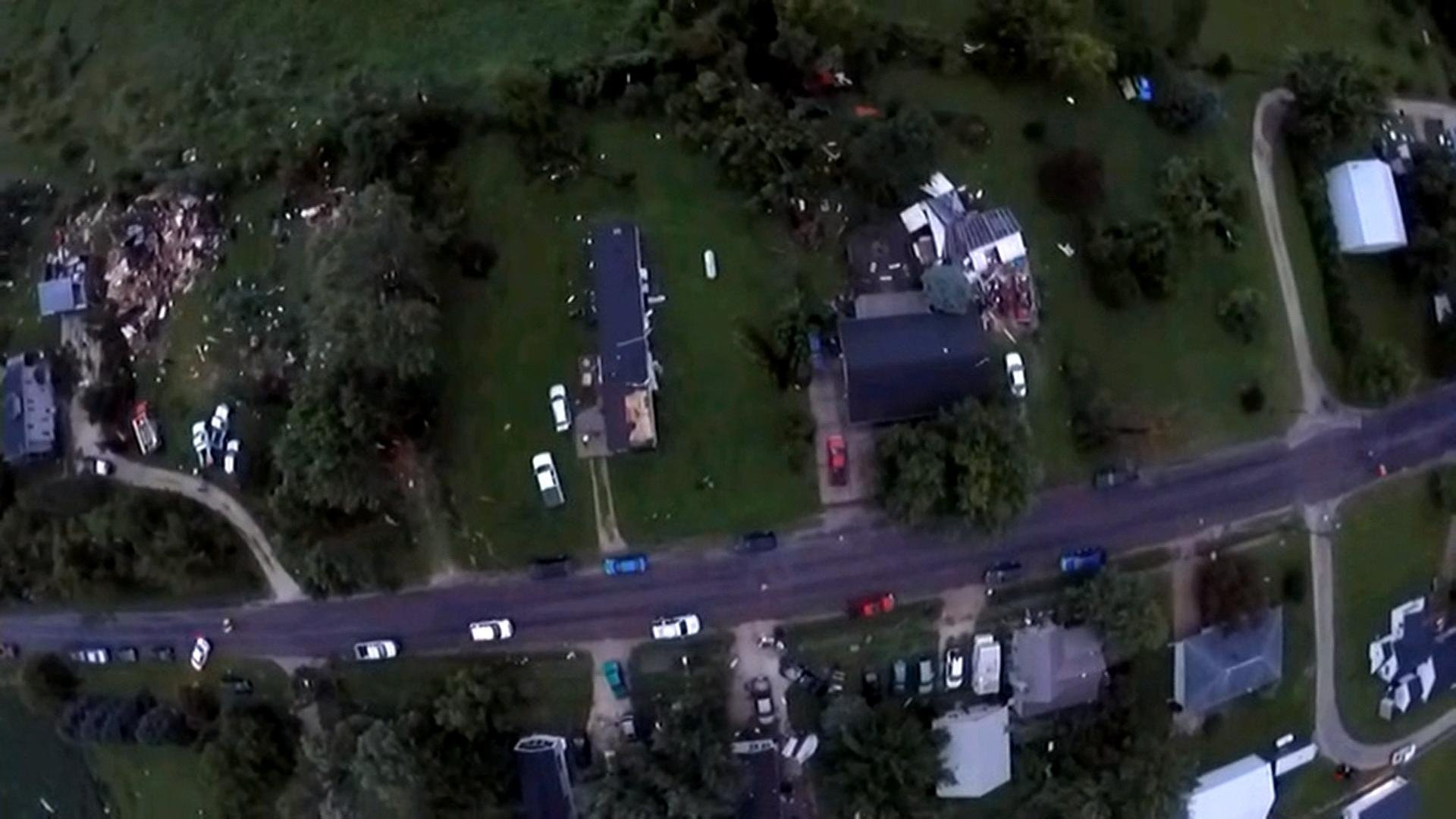 KWWL Drone footage from Prairieburg
