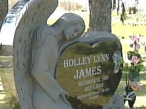 Holley James' grave site