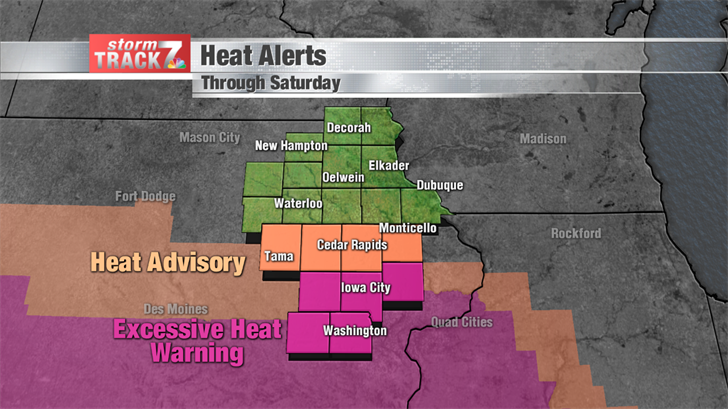 Heat Alerts through Saturday