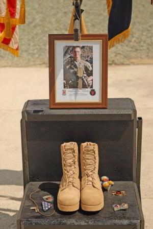 SPC Don Nichols Memorial. Photo by Spc. James Wilton