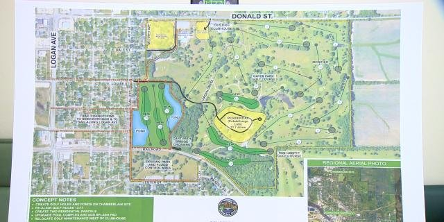 Plan A for possible redevelopment of the area.