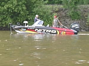 Professional walleye anglers test the Mississippi River waters Tuesday, before the tournament kicks off Wednesday.