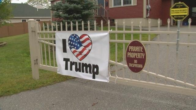 ME woman refuses to take down Trump signs