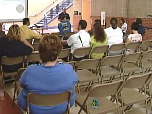 The Dubuque Community School District held a town hall input meeting Saturday morning at Prescott Elementary School