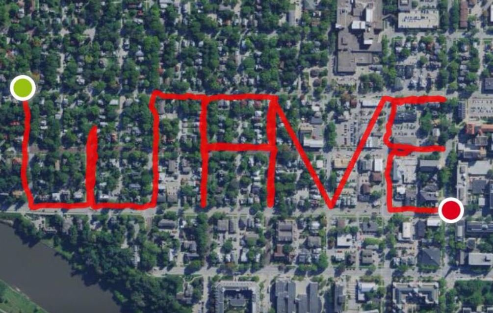 Iowa Runner Maps Out The Word Wave To Honor New Iowa City Trad - Map of eastern iowa