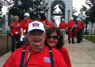 The Waterloo Honor Flight meets up with the Dubuque Honor Flight