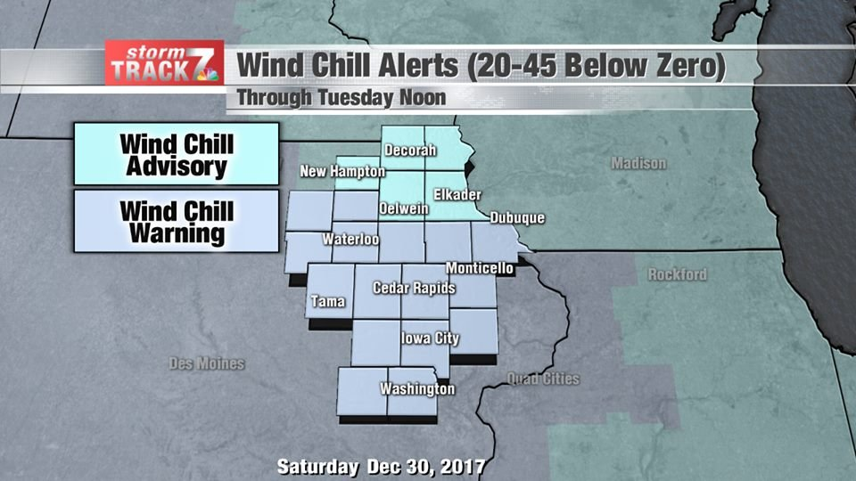 Weather service once again warns of risky wind chills