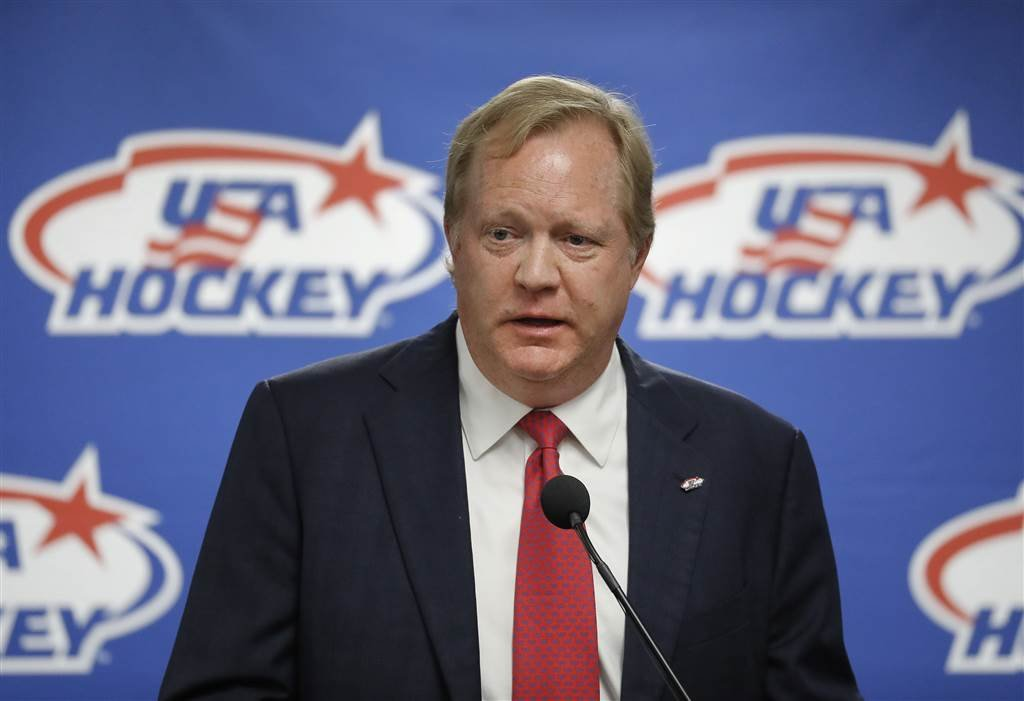 Jim Johannson speaks during a news conference in Plymouth, Michigan on Aug. 4, 2017. Paul Sancya / AP file
