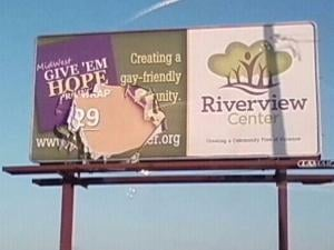This billboard in Carroll County, Ill. was vandalized earlier this week