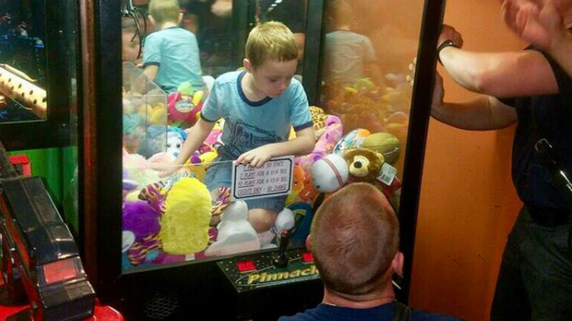 Child Rescued After Getting Stuck Inside Arcade Machine