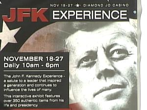 The JFK Experience runs in Dubuque Nov. 18-27