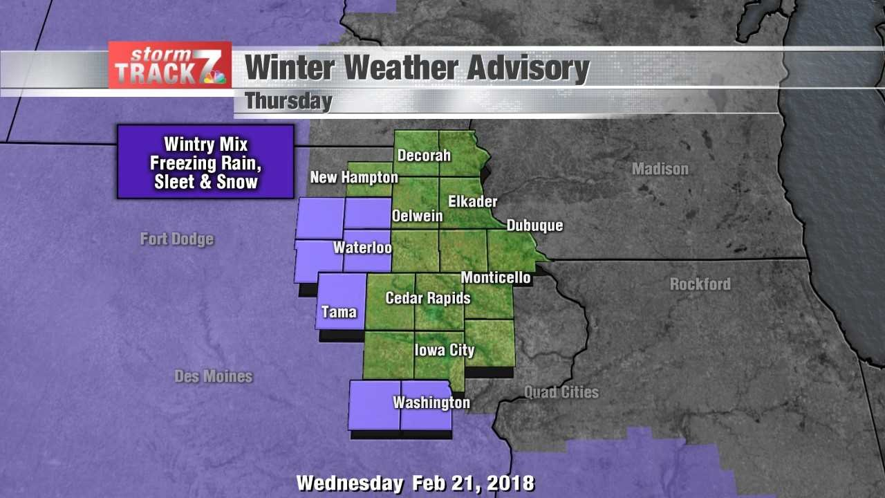 Winter Weather Advisory Thursday