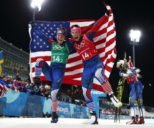 Jessie Diggins wins historic cross-country gold