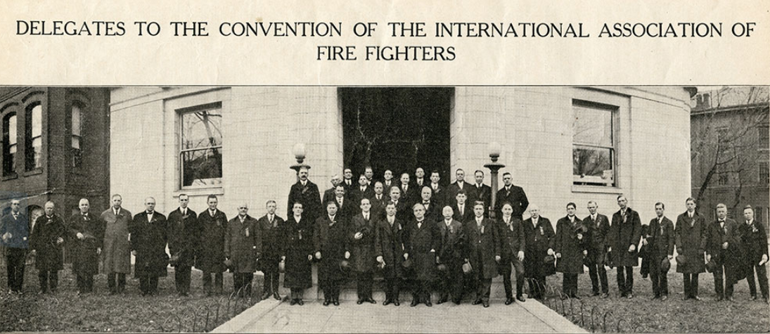 The original delegation of the IAFF in 1918. Photo Credit:IAFF