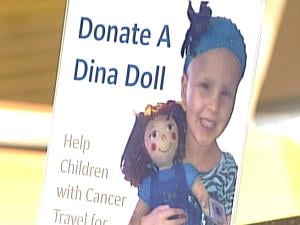 Each doll costs $20, and the money goes directly to help kids with cancer and their families.