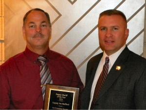 Deputy Joe Stafford and Sheriff Tony Thompson