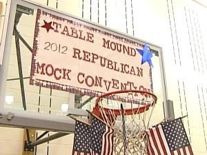 Table Mound Elementary has been holding mock conventions since 1968.