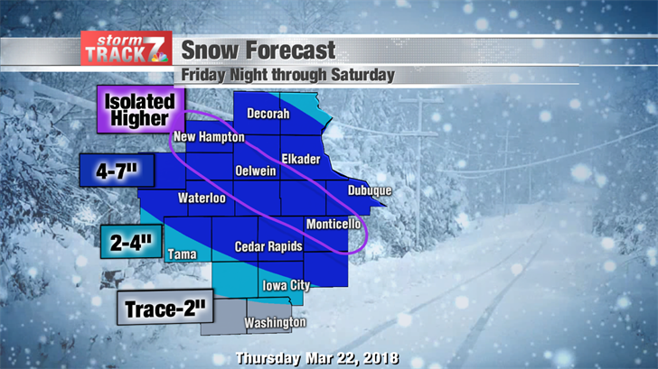 Snow Forecast Friday Night & Saturday