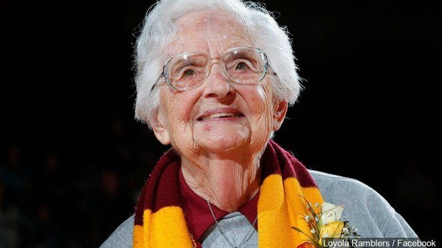 Sister Jean Dolores Schmidt's Loyola-Chicago Ramblers are moving on to the Elite Eight.