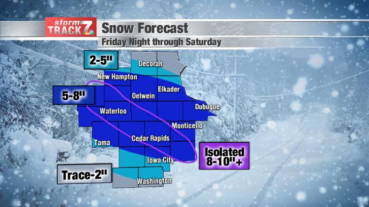 Snow Forecast Friday Night & Saturday
