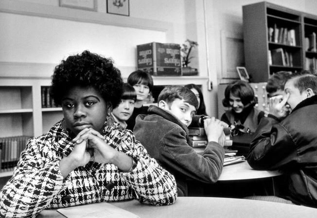 This undated file photo, location unknown, shows Linda Brown, the Kansas girl at the center of the 1954 U.S. Supreme Court ruling that struck down racial segregation in schools, has died at age 76.