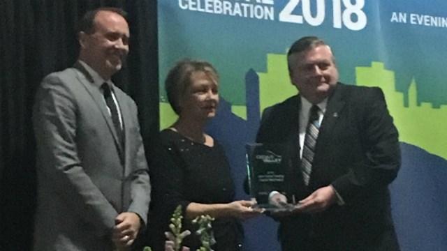 KWWL was awarded the John Deere Treating Capital Well Award on Tuesday night in Waterloo.