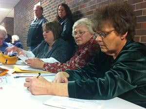 Each of the 12 precincts in Dyersville tallied up the ballots