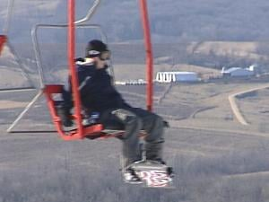 Sundown Mountain Resort may have snow on its slopes, but the Dubuque Co. countryside is brown.