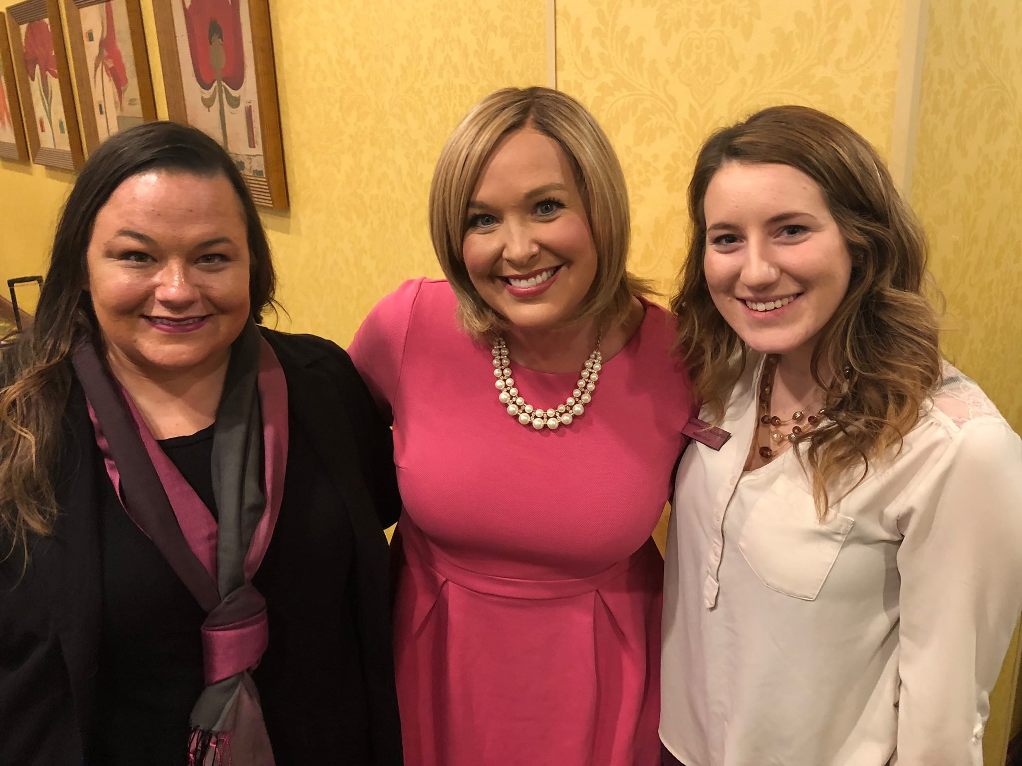 KWWL's Abby Turpin with Paige Knebel and Natalie Meyer of the Alzheimer's Association East Central Iowa Chapter