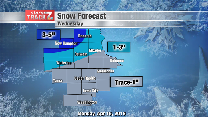 Snowfall Forecast Wednesday