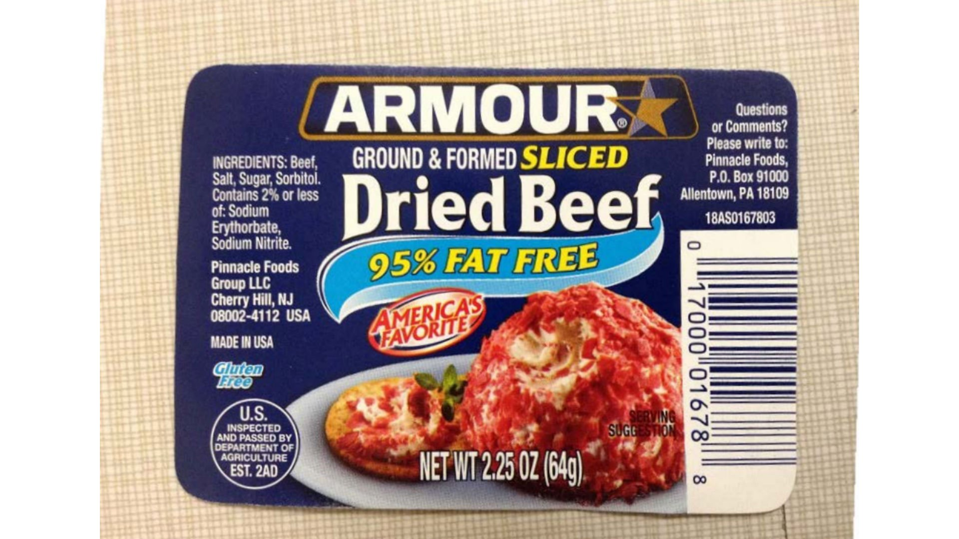 Based company recalls jars of dried beef