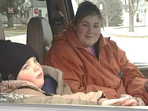 Five-year-old Diezel Fuelling helped save his mom, Stacy Fuelling