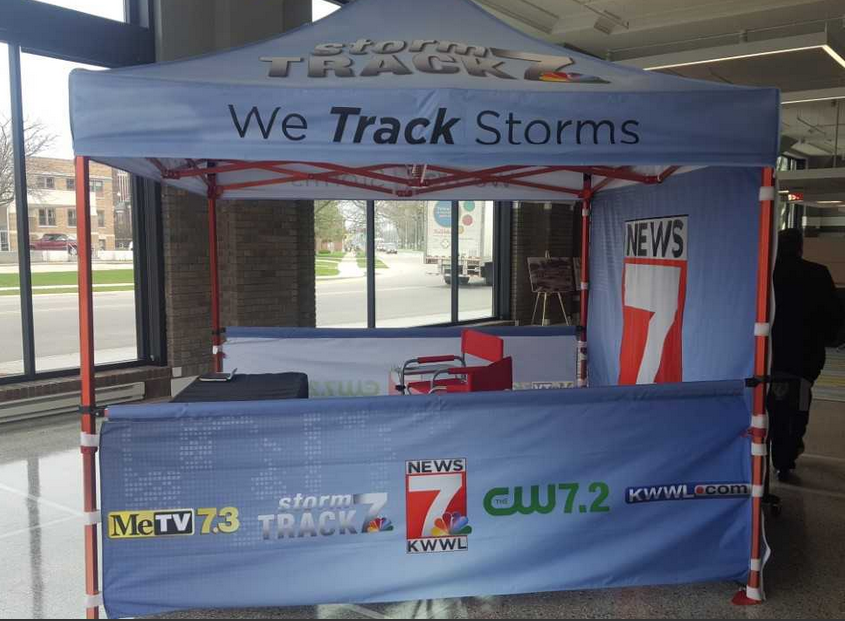 Look for our KWWL canopy at the Cedar Rapids Farmers' Markets this year