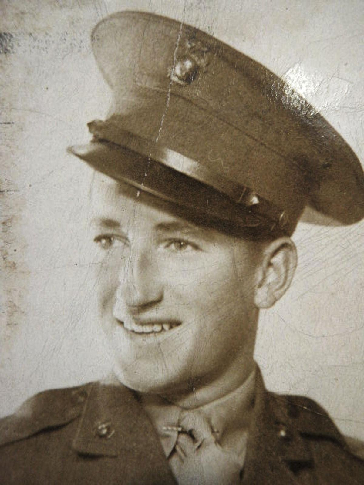 This circa 1940s photo released by the Defense POW/MIA Accounting Agency shows Marine Corps Pfc. Francis E. Drake, born in Framingham, Mass., raised in Springfield, and killed in 1942 during the WWII Battle of Guadalcanal in the South Pacific.