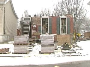 The sub-contractor salvaged more than 15,000 from the remains of the house