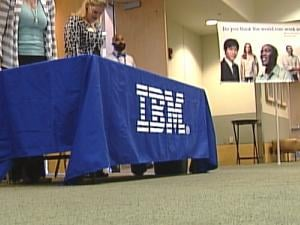 IBM held a job fair Wednesday at the Grand River Center in Dubuque