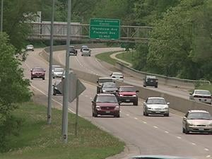 Traffic flows on US Highway 20 in Dubuque Monday afternoon