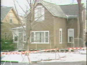 The Huntbach's home in 1981 while police were investigating the murders.