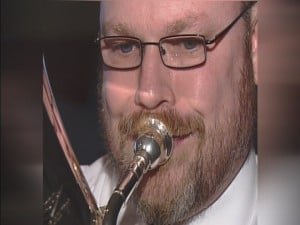 Capt. Rob Whitney, playing the euphonium