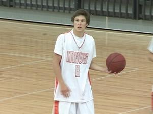 Domen Zevnik, 18, played Sunday with his traveling team the Mavs. He played this season for Dubuque Senior High School.