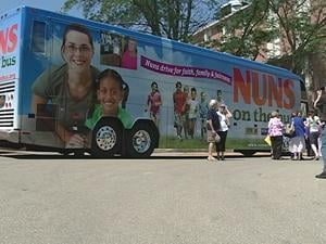 The Nuns on the Bus tour visited the Dominican Sisters of Sinsinawa Tuesday morning