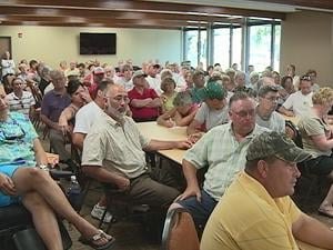 About 150 people gathered at the Dyersville Social Center to learn more about the Field of Dreams expansion plans