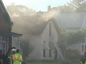 Officials responded to this Dubuque house fire in the 2500 block of Windsor Avenue