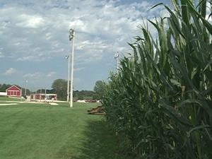 The grass at the Field of Dreams is watered nightly by an irrigation system