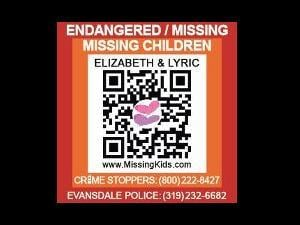 Scanning this QR code with a smartphone will lead to a mobile site with information about the missing girls
