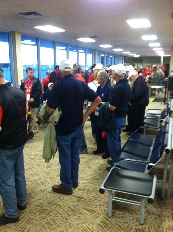 Iowa Honor Flight veterans prepare for departure from Waterloo airport Tuesday