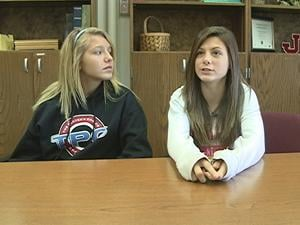 Eighth graders Tayler Reynolds and Chelsea Molzof want to reinvigorate their school's Anti-Bullying Alliance.