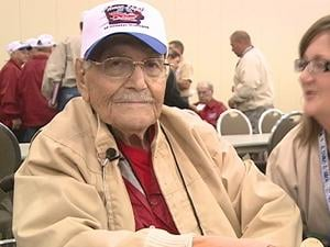 Kent Meyers, 89, has been literally living for Tuesday's Honor Flight of Greater Dubuque.